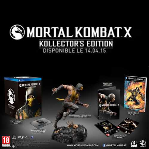mortal kombat x kollectors edition ps4 kaufen. Black Bedroom Furniture Sets. Home Design Ideas