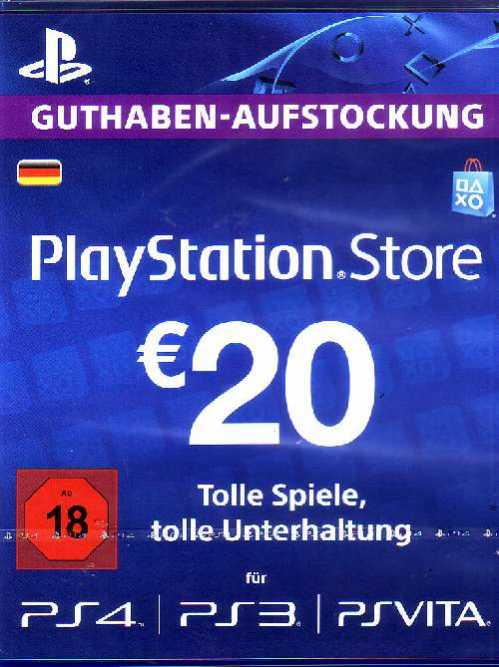 psn playstation network card 20 euro online kaufen. Black Bedroom Furniture Sets. Home Design Ideas
